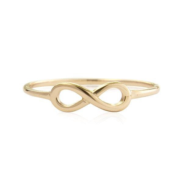"Immagine di Silber ""Infinity 10mm"" Ring. 1 micron Vergoldet"