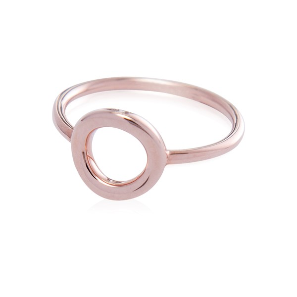 "Immagine di Silber ""Circle 10mm"" Ring, 1 micron rosévergoldet"