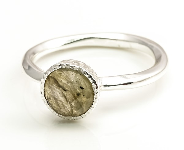 Immagine di Labradorit fac. Disc 7mm Ring, Silber 925