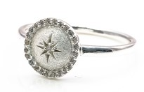 Image de Silber Zirkonia Star 10mm mit CZ Ring, Silber 925, Image 1