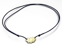 Immagine di Silber Lotus Flower 9mm mit Cord Armband, Silber vergoldet, Immagine 1
