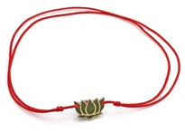Immagine di Silber Lotus Flower 9mm mit Cord Armband, Silber vergoldet, Immagine 2