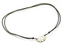 Immagine di Silber Lotus Flower 9mm mit Cord Armband, Silber vergoldet, Immagine 3