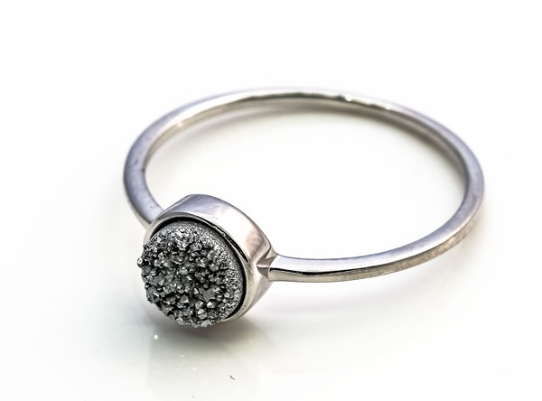 Image de Achat Druzy Silber 7mm Ring, Silber 925
