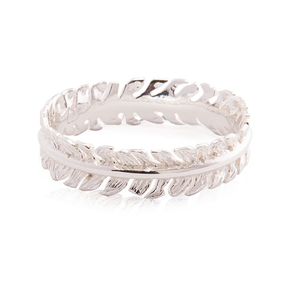 "Immagine di Silber ""Lorbeer"" 5mm Ring, Silber 925"