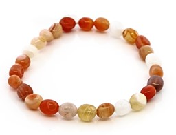 Bild von Botswana Achat orange Nuggets 6x10mm Armband