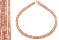 Bild von Mondstein Button  8mm Strang TOP (peach)
